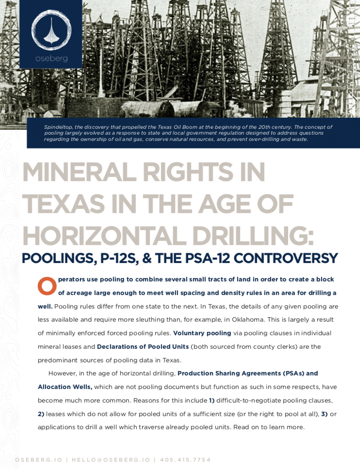 Mineral Rights in Texas: Poolings, P-12s and the PSA-12